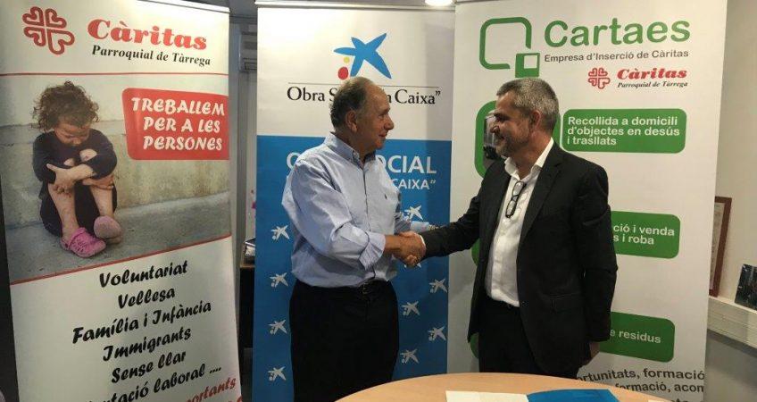 """Conveni entre Càritas Parroquial de Tàrrega i l' Obra social """"la Caixa"""""""